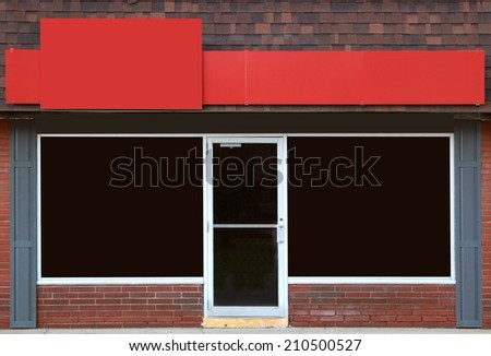 Empty storefront with great possibilities for small business - stock photo