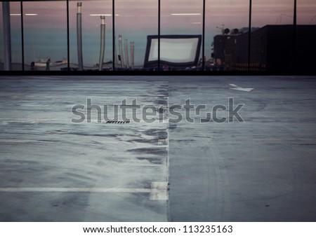 Empty street - stock photo