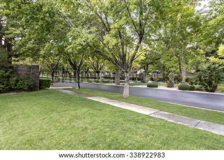 Suburban Street Stock Photos, Images, & Pictures ...