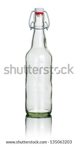 empty swing top bottle - stock photo