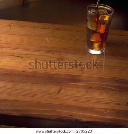 Empty table - stock photo