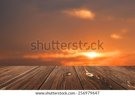 empty table for display montages - stock photo
