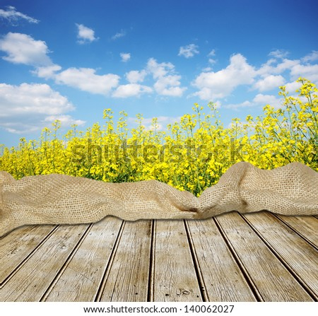 Empty table for Your photo montage - stock photo