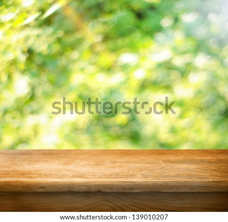 Empty table ready for your product display montage - stock photo