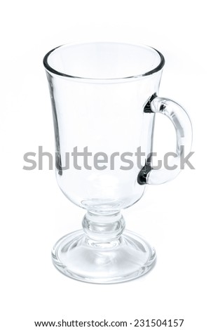 Empty tea and coffee glass isolated on a white background - stock photo