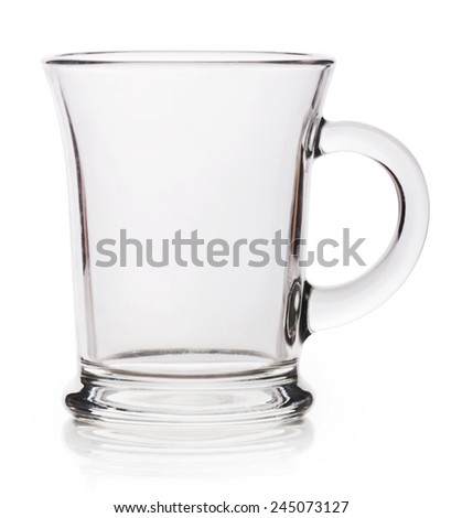 Empty tea cup on white background - stock photo