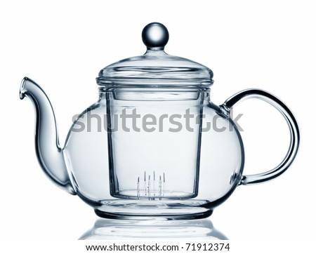 Empty teapot - stock photo