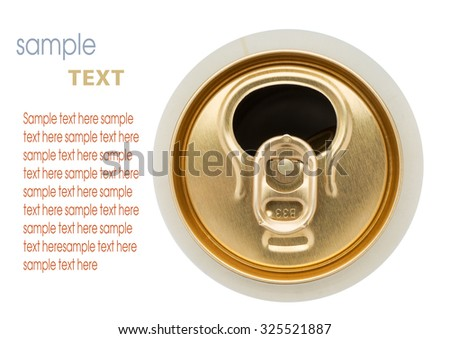 empty tin can isolated on white - stock photo