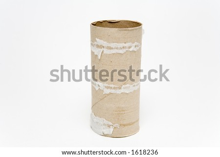 Empty toilet paper roll - stock photo