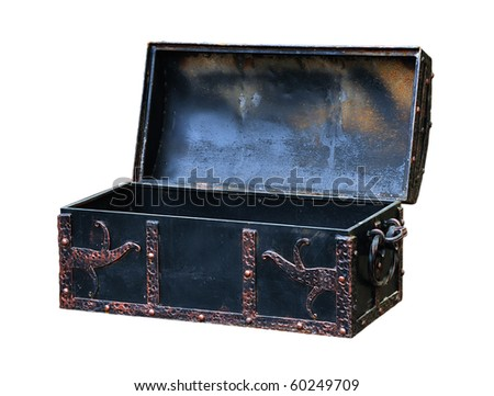 Empty treasure Chest - stock photo