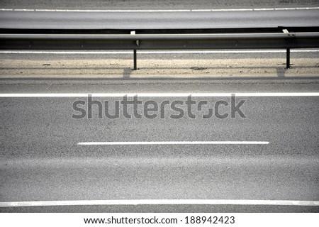 Empty two lane motorway - stock photo