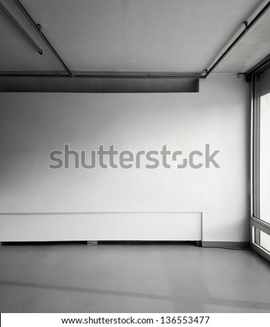 Empty wall - stock photo