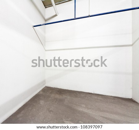 Empty warehouse wall background - stock photo