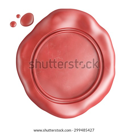 empty wax seal isolated on white - stock photo