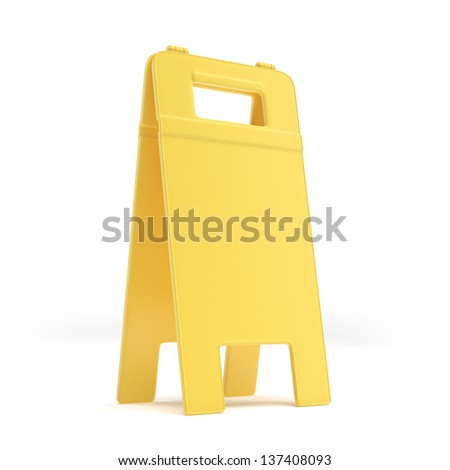 Empty wet floor sign - stock photo