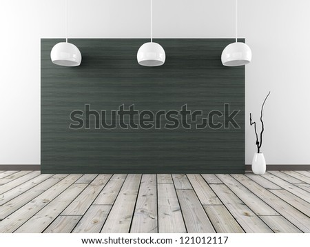 empty white and black wall - stock photo