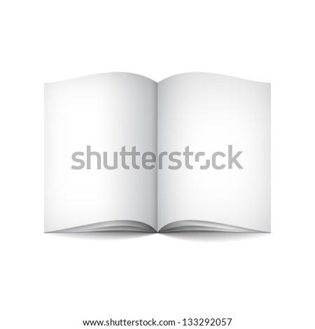 Empty white book - stock photo