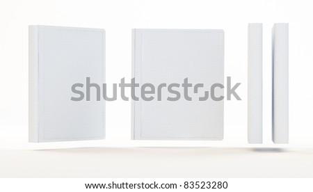 Empty white books isolated - stock photo