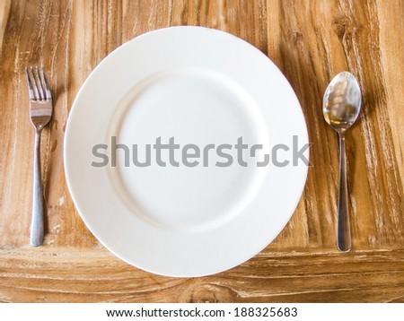 Empty white dish - stock photo