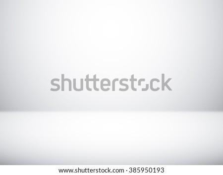 Empty white studio room background for photography indoor  - stock photo