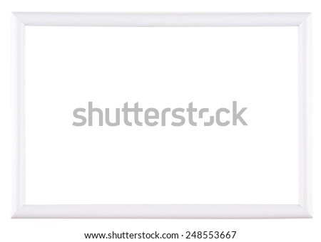 Empty whiteboard (empty frame) isolated on white - stock photo