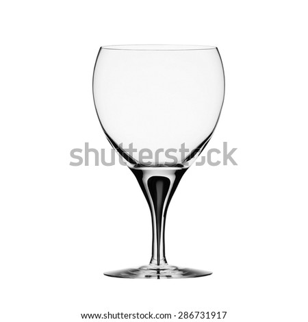 Empty wine glass. isolated on a white background - stock photo