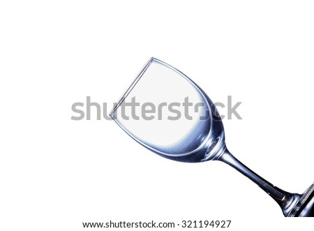 empty wine glass on white background - stock photo