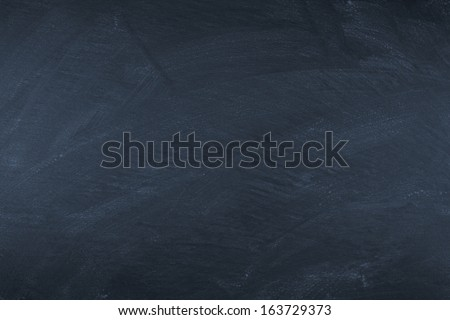 empty wiped slate board - stock photo