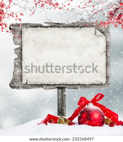 Empty wooden board with copy-space for text - stock photo