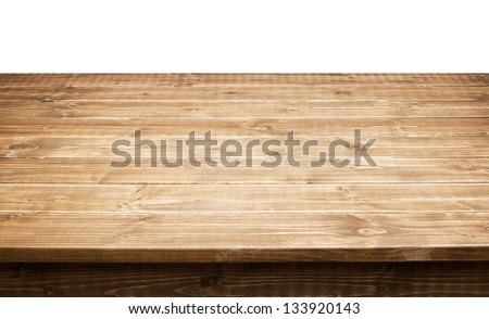 Empty wooden table top - stock photo