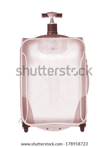 Empty X-ray bag on white background - stock photo