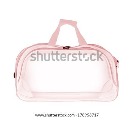 empty xray bag on white background - stock photo