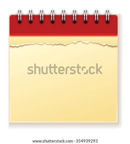 Empty Yellow Notepad - stock photo