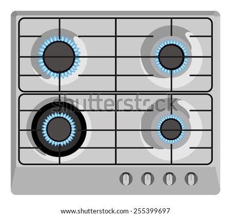 Enabled gray plate top view - stock photo