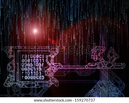 Encryption Key series. Composition of stylized key and number symbols on the subject of encryption, mathematics and digital technologies - stock photo