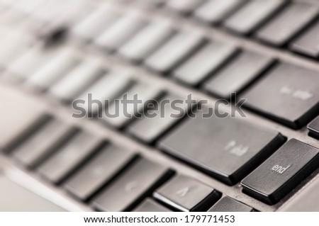 End key on computer keyboard.  - stock photo