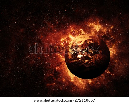 End of the World - Elements of this Image Furnished by NASA - stock photo