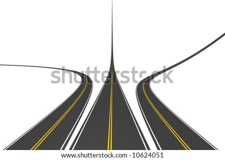 Endless highways - stock photo