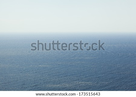 Endless sea, infinite horizon - stock photo