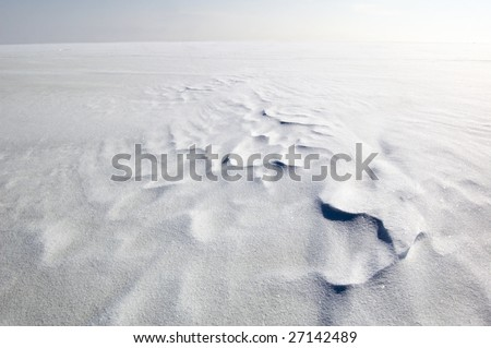 endless snowfield - stock photo