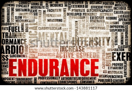 Endurance Training and Mental Strength as Concept - stock photo