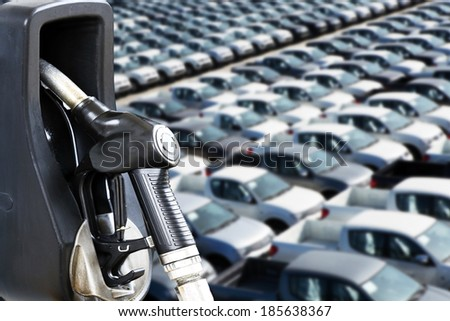 Energy and Automotive Concept of industry growth and increasing energy shifts in the future. - stock photo