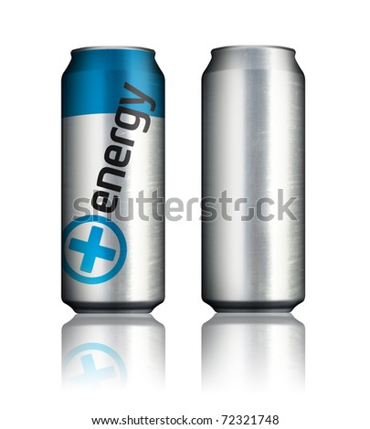 energy drink cans - stock photo