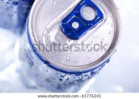 energy drink closeup - stock photo