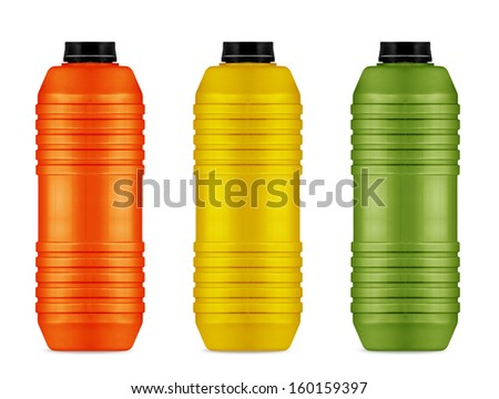 energy drinks cans,  reusable water and energy bottle on white  (with clipping work path) - stock photo