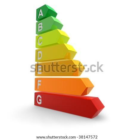 Energy efficiency rating - stock photo