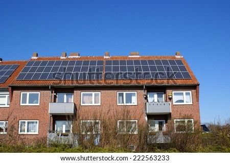 Energy efficient house - stock photo