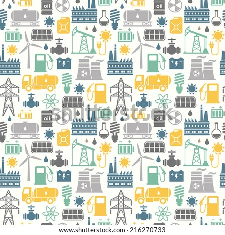 Energy, electricity, power seamless background  - stock photo