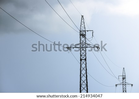 Energy from the sky - stock photo