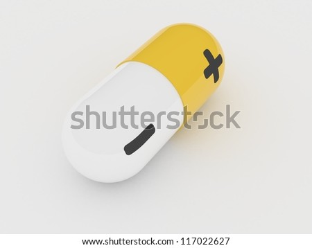 Energy pill - stock photo